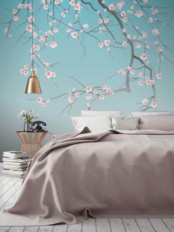 Papier peint en revêtement mural de chambre
