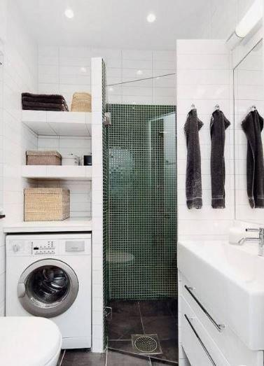 Mini salle de bain douche angle